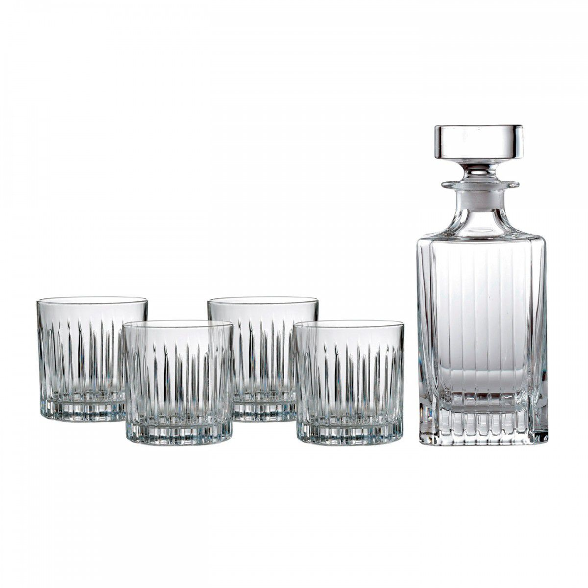 ROYAL DOULTON Set 4 pahare whisky cu carafa