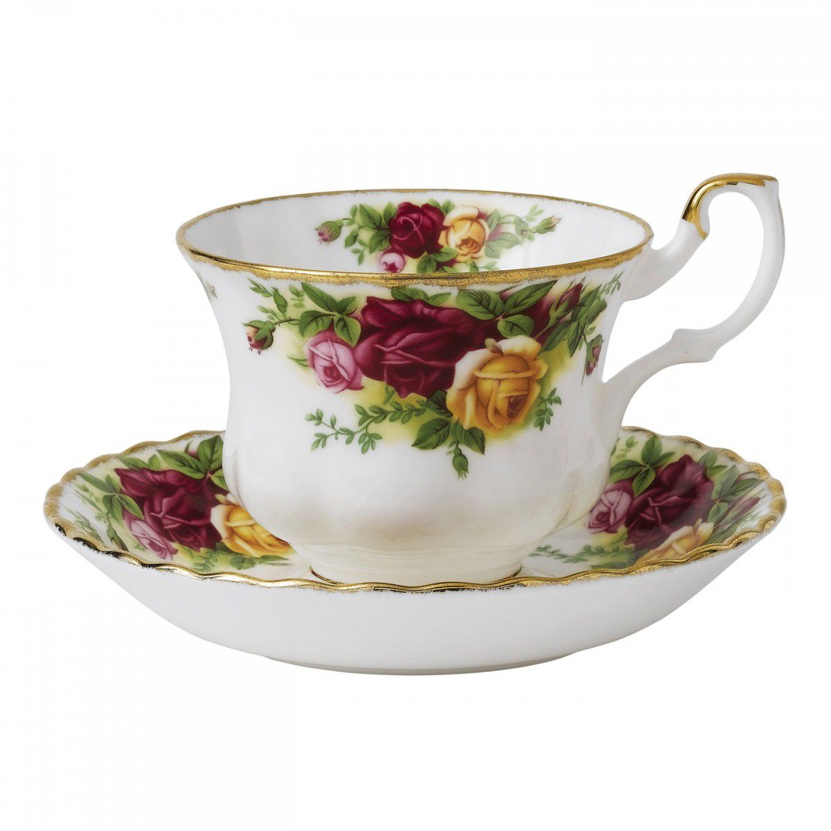 Royal Albert Ceasca cu farfurie ceai Old Country Roses