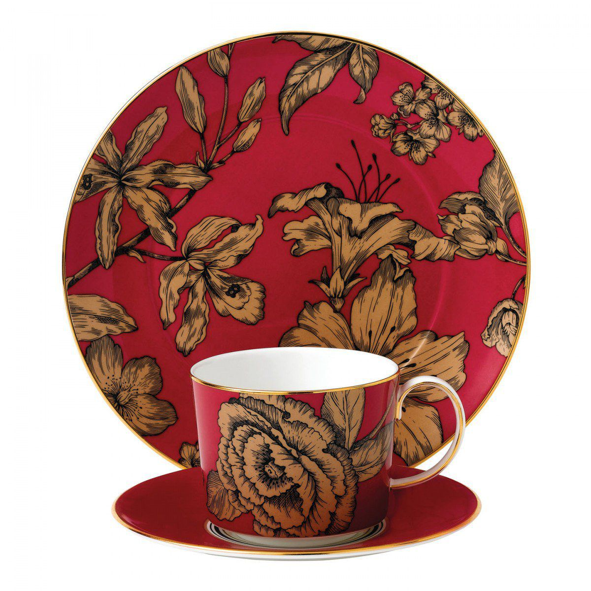 Wedgwood Set 3 piese Pink Floral Vibrance