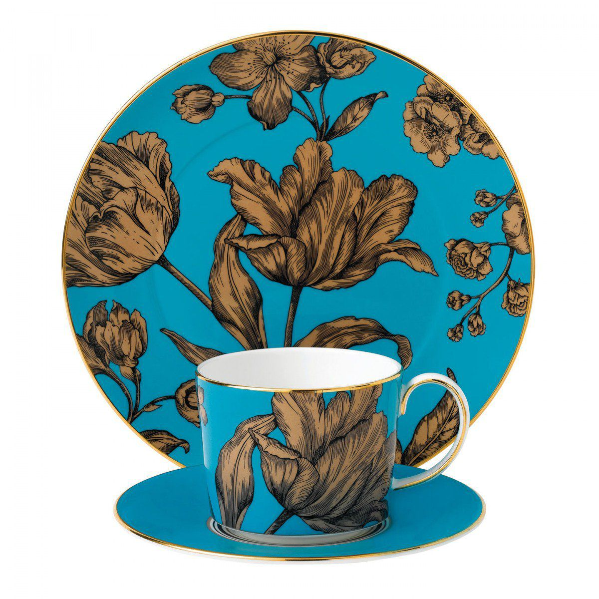 Wedgwood Set 3 piese Turquoise Floral Vibrance