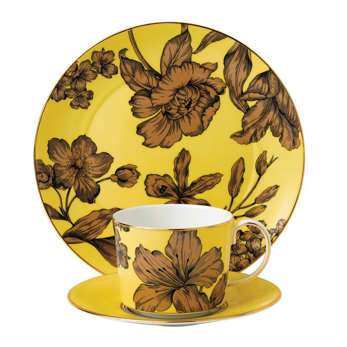 Wedgwood Set 3 piese Yellow Floral Vibrance