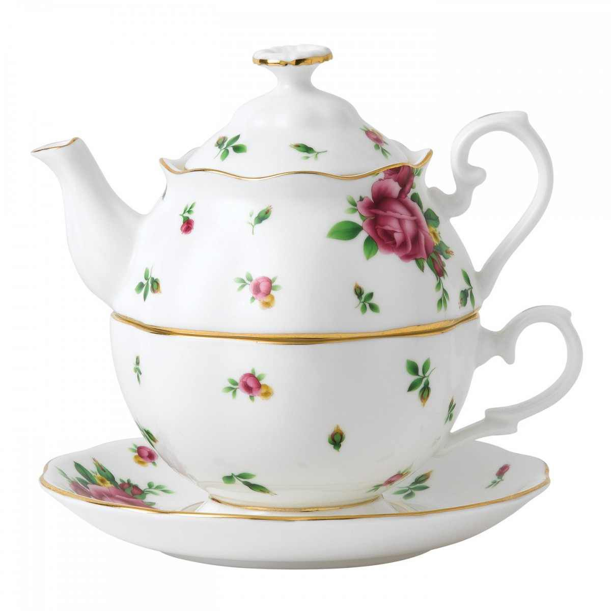 Set ceai Tea for One New Country Roses White